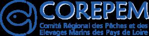 Logo de 2014 du Comité Régional des Pêches et des Élevages Marins des Pays de Loire (COREPEM)