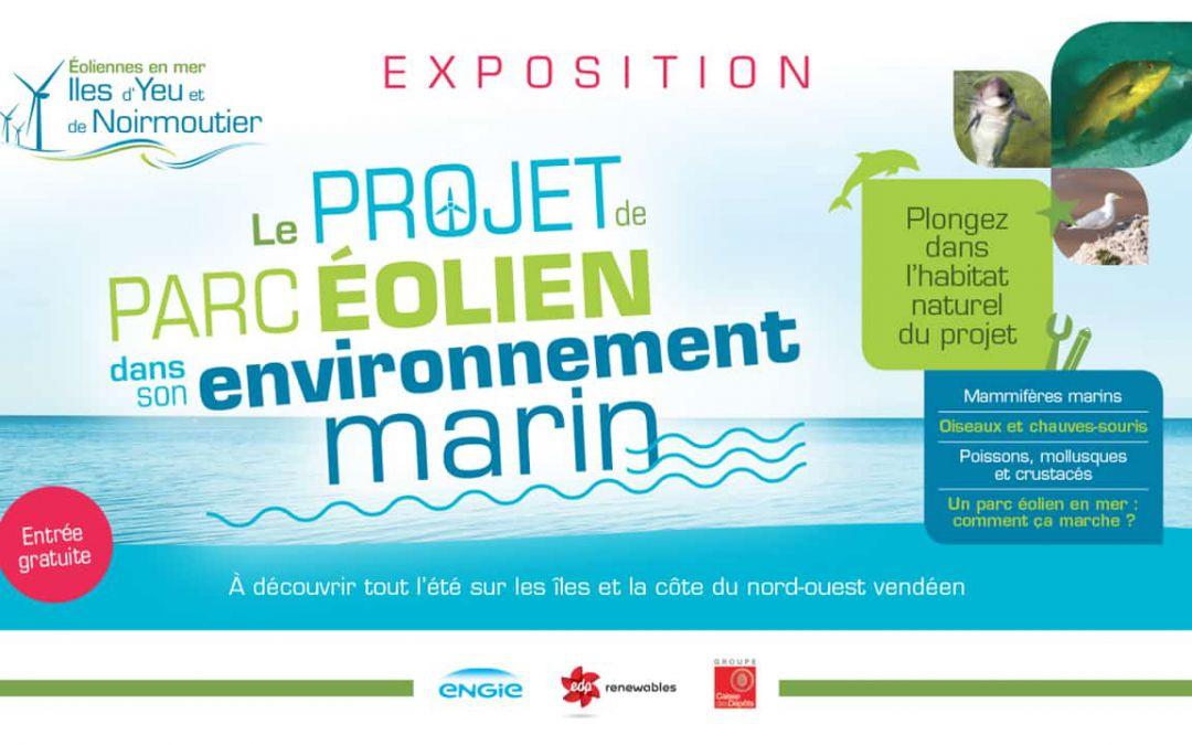 L'exposition itinérante sur le projet de parc éolien et son environnement marin