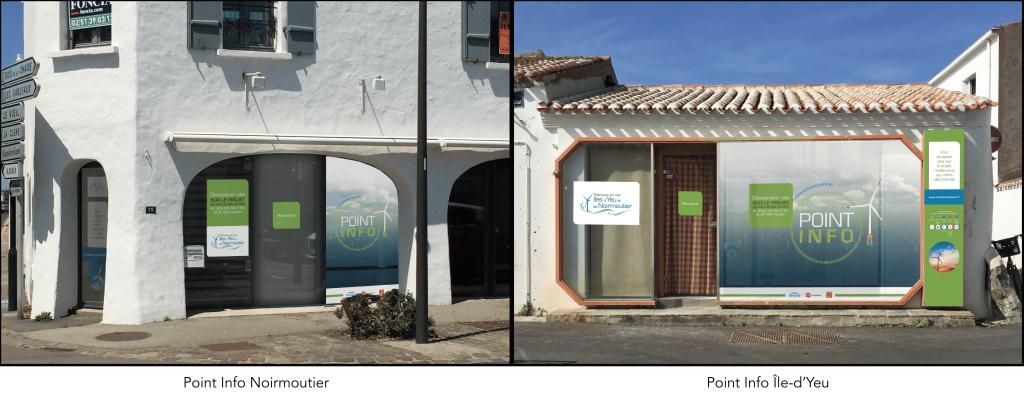 Photo présentant Les 2 Points Info ouverts aux Îles d'Yeu et de Noirmoutier