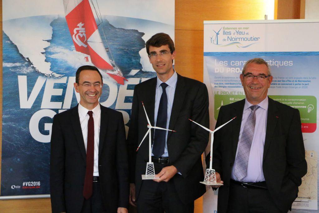 Photo illustrant l'entretien avec Yves Auvinet, Président du département de la Vendée