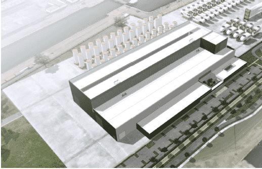 Photo utilisée pour les études d'avant-projet (AVP) et de concertation de l'entreprise Adwen dans les usines au Havre ( Îles d'Yeu et de Noirmoutier)