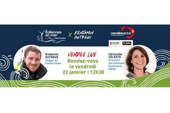 Vendée Globe : RDV demain à 12h30, dans l'émission Vendée Live !